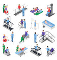 physiotherapy rehabilitation isometric set vector image vector image