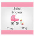 Postcard baby shower for baby girl vector image