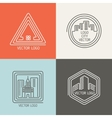 Real estate house linear logos emblems set vector image vector image