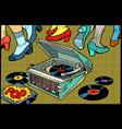 retro dancing gramophone vector image