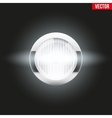 Round car headlight is on vector image vector image