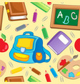 school theme seamless background 1 vector image