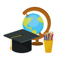 school world map cartoon vector image