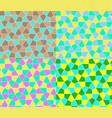 seamless geometric pattern set simple flat lined vector image