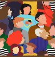 seamless pattern of people crowd vector image vector image