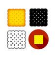 set biskut cracker icon art vector image