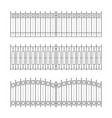 sketches of fences drafts outline design vector image vector image