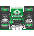 soccer bar football beer pub meals menu vector image vector image