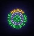 st patricks day neon sign logo vector image