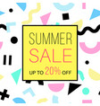 summer sale banner vector image vector image