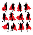 super mother fantasy silhouettes vector image