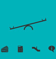 swing icon flat vector image