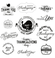 Thanksgiving Day Design Elements Badges and Labels vector image vector image