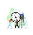 time is up concept flat style design vector image vector image