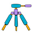 tripod icon cartoon vector image vector image