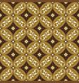 unique flower pattern on solo batik with olive vector image vector image