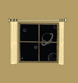 window dreaming the starry sky at bedtime vector image vector image