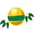 Yellow Ornament vector image vector image