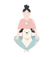 young girl sitting with her dog best friends vector image