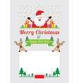 Christmas Characters Frame vector image