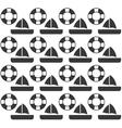 life buoy ship seamless pattern design vector image