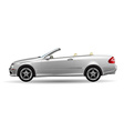 Classic convertible on white background original vector image