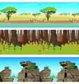 Set nature backgrounds horisontal tiled patterns vector image