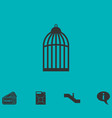 bird cell icon flat vector image