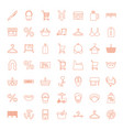 49 shop icons vector image vector image