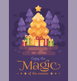 a big bright shinning christmas tree with vector image vector image