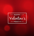 abstract beautiful valentines day red background vector image vector image