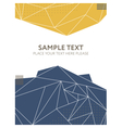 Abstract colorful polygonal background Template vector image vector image
