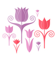 Abstract flowers Origami vector image vector image