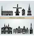 Alkmaar Landmarks vector image vector image