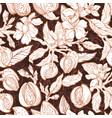 almond garden nature seamless pattern vector image vector image