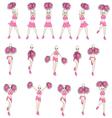 Animation dance cheerleader