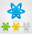 atom set symbol on a white background vector image vector image