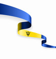 barbados flag wavy abstract background vector image vector image