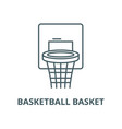 basketball basket line icon linear concept vector image vector image