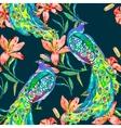 beautiful peacock pattern peacocks vector image vector image