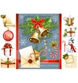 big collection christmas objects vector image