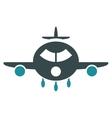 Cargo Aircraft Flat Icon vector image