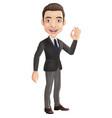 cartoon businessman showing okay sign vector image vector image