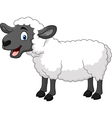 Cartoon happy sheep posing isolated vector image vector image