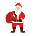 cartoon santa claus bag sack of gifts vector image vector image