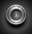 cd metallic icon vector image vector image