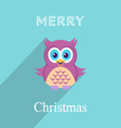 Christmas card with owl vector image vector image