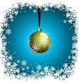 christmas with gold ball vector image vector image