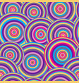 colorful concentric circle seamless pattern vector image