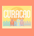 curacao background vector image vector image